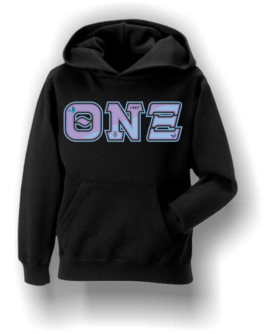 Theta Nu Xi - Hoodie with Symbols and Colors