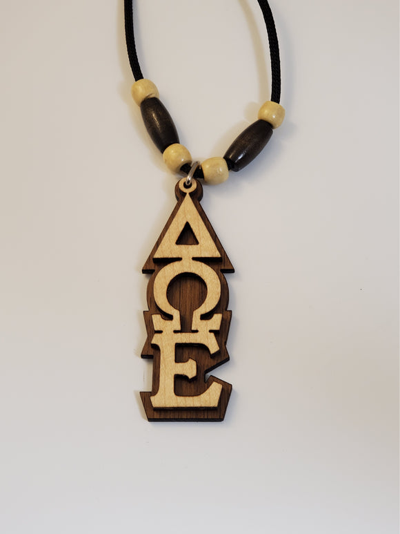 Delta Omega Epsilon-Tiki, Wood-Light Wood on Genuine Walnut-DWE-01-TIKI-MPL-WLNT