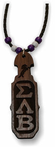 Sigma Lambda Beta - Tiki, Wood, Paddle - SLB-01-TIKI-PDL