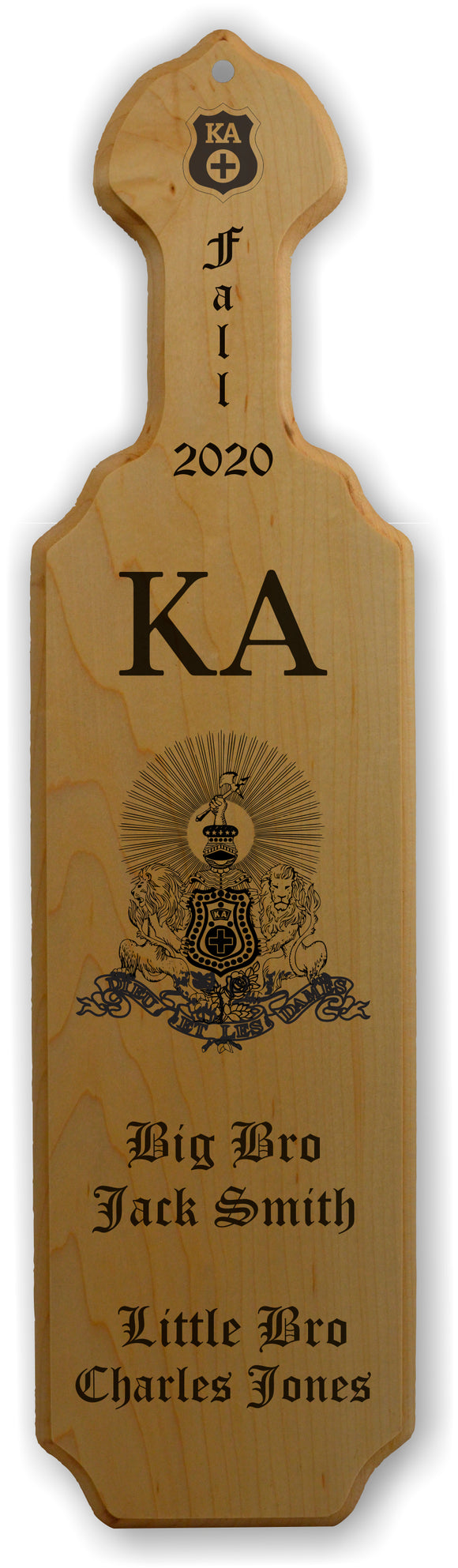 Kappa Alpha-Paddle, Custom, Laser Engraved, 21 Inch-KA-01-PDL-21