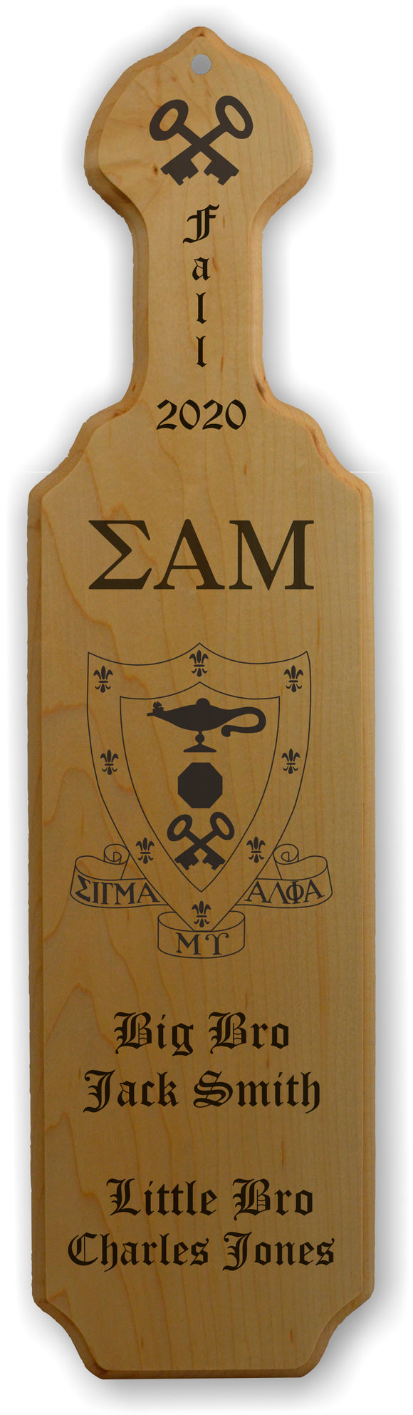 Sigma Alpha Mu-Paddle, Custom, Laser Engraved, 21 Inch-SAM-01-PDL-21