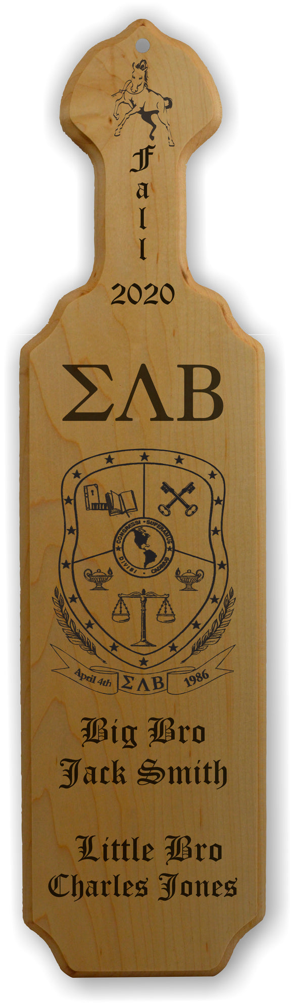 Sigma Lambda Beta-Paddle, Custom, Laser Engraved, 21 Inch-SLB-01-PDL-21