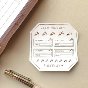 Vaccination Foiled Sheet - Icon Collection IC18