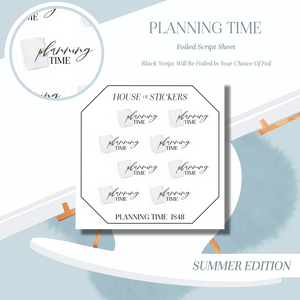 Planning Time Foiled Sheet - Illustrated Script Collection Summer Edition IS48