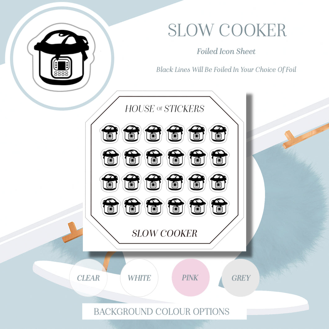Slow Cooker Foiled Sheet - Icon Collection IC15