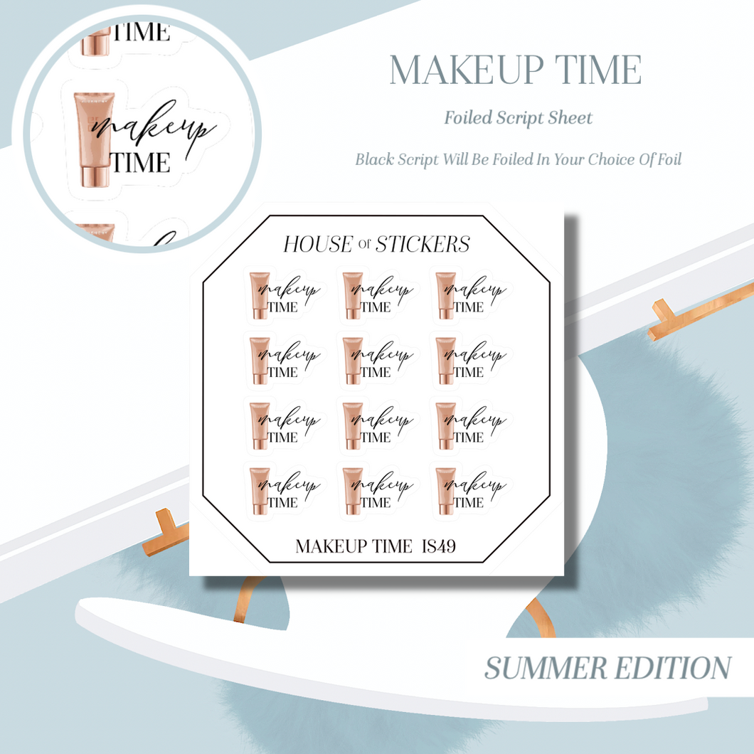 Makeup Time Foiled Sheet - Illustrated Script Collection Summer Edition IS49