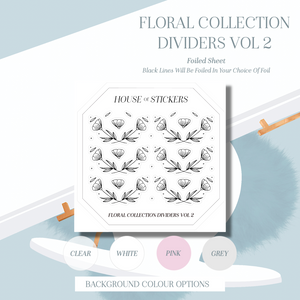 Dividers Vol 2 Foiled Sheet - Floral Collection FC06