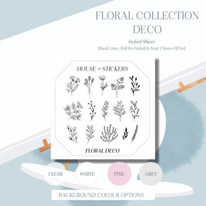 Deco Foiled Sheet - Floral Collection FC04