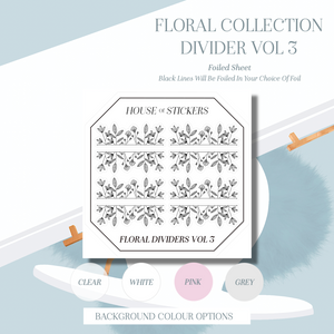 Dividers Vol 3 Foiled Sheet - Floral Collection FC07