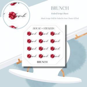 Brunch Foiled Sheet - Illustrated Script Collection IS03
