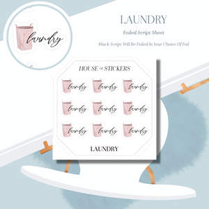 Laundry Foiled Sheet - Illustrated Script Collection IS16