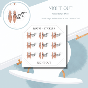 Night Out Foiled Sheet - Illustrated Script Collection IS21