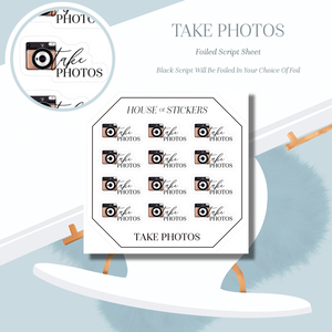 Take Photos Foiled Sheet - Illustrated Script Collection IS29