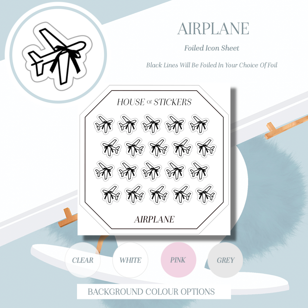Airplane Foiled Sheet - Icon Collection IC01