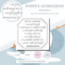 Load image into Gallery viewer, Dainty Positive Affirmations Foiled Sheet - Scripts Collection SC06