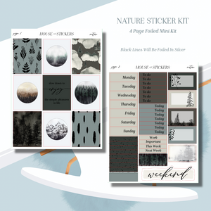 Nature Foiled Sticker Kit