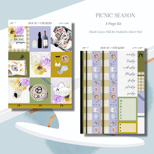 Picnic Season Foiled Sticker Kit