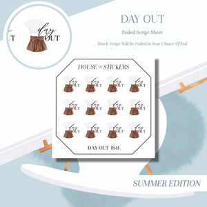 Day Night Foiled Sheet - Illustrated Script Collection Summer Edition IS41