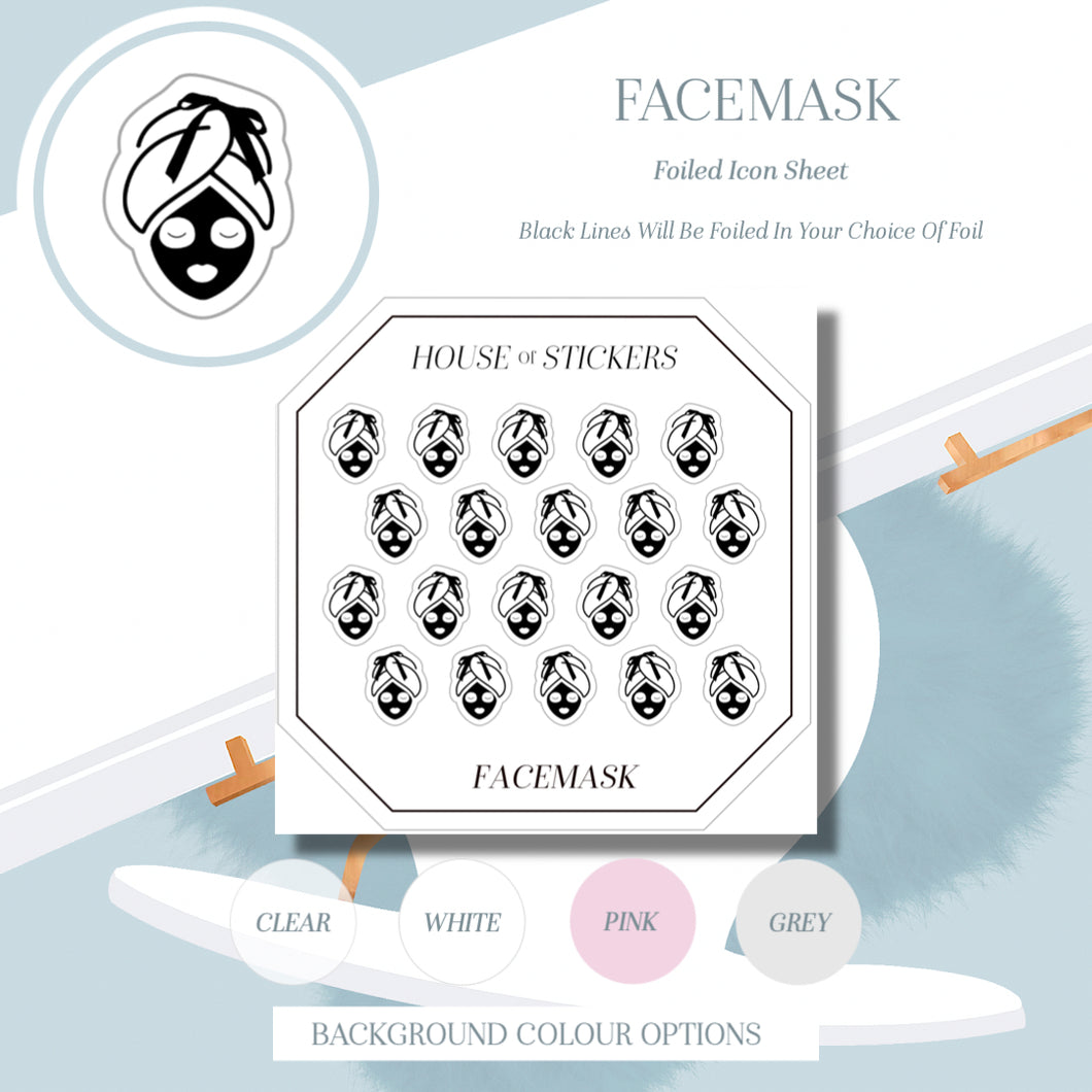 Facemask Foiled Sheet - Icon Collection IC07