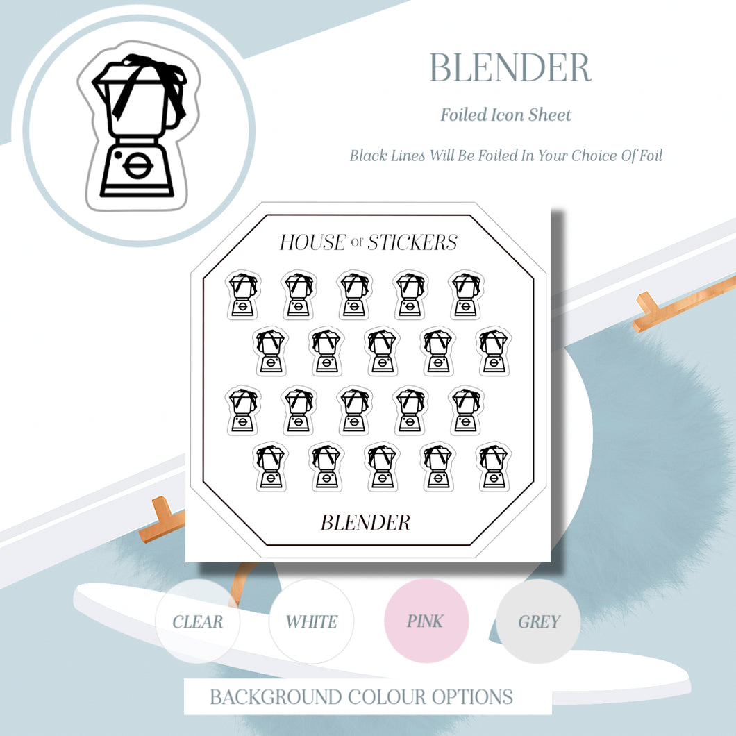 Blender Foiled Sheet - Icon Collection IC03