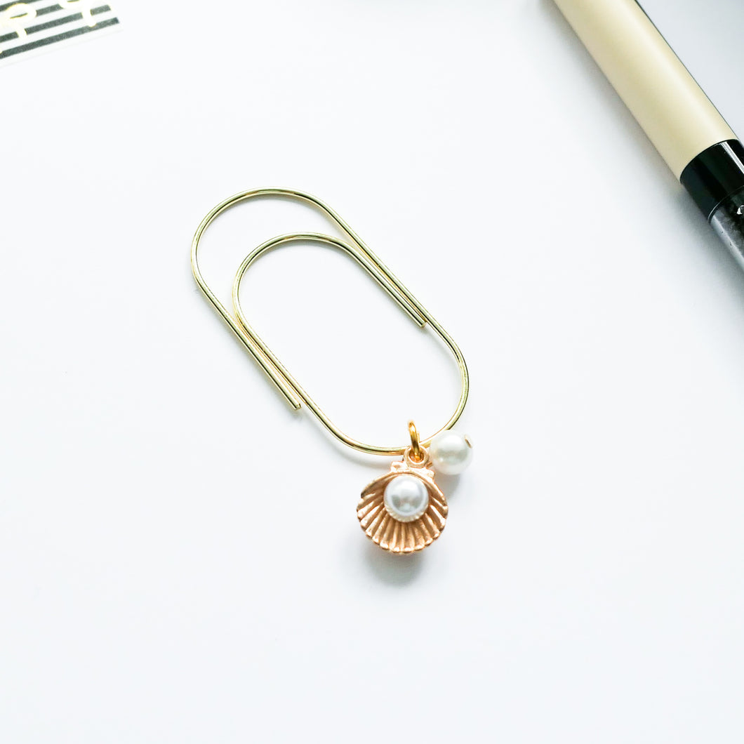 Seashell Pearl Paperclip
