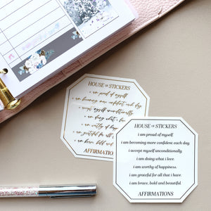Dainty Positive Affirmations Foiled Sheet - Scripts Collection SC06