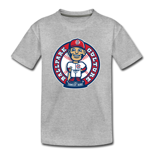 Kids Baseball Bobblehead Tee - heather gray