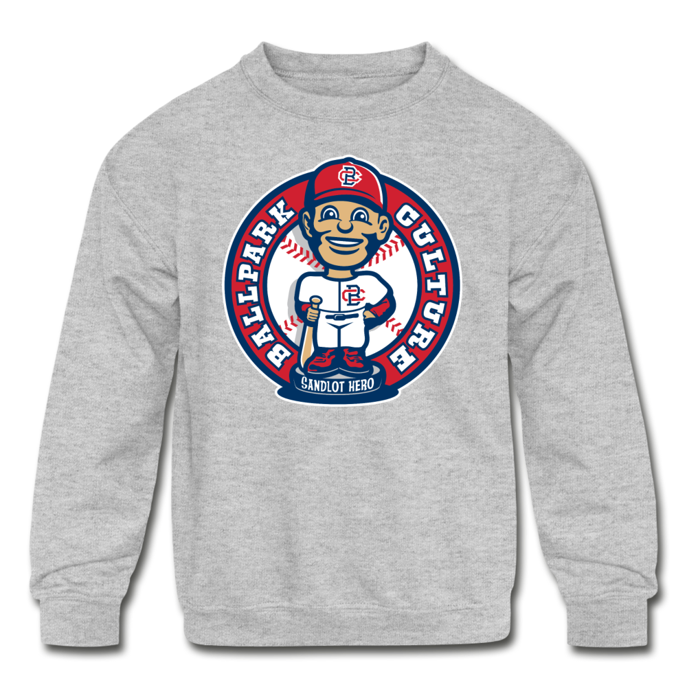 Kids Baseball Bobblehead Hoodie - heather gray