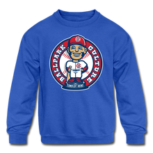 Load image into Gallery viewer, Kids Baseball Bobblehead Hoodie - royal blue