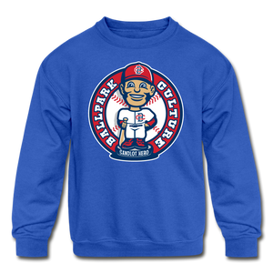 Kids Baseball Bobblehead Hoodie - royal blue
