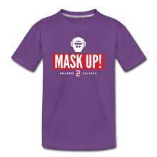 Load image into Gallery viewer, Kids Mask Up! Tee - purple