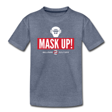 Load image into Gallery viewer, Kids Mask Up! Tee - heather blue