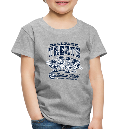 Little Kids Ballpark Treats - heather gray