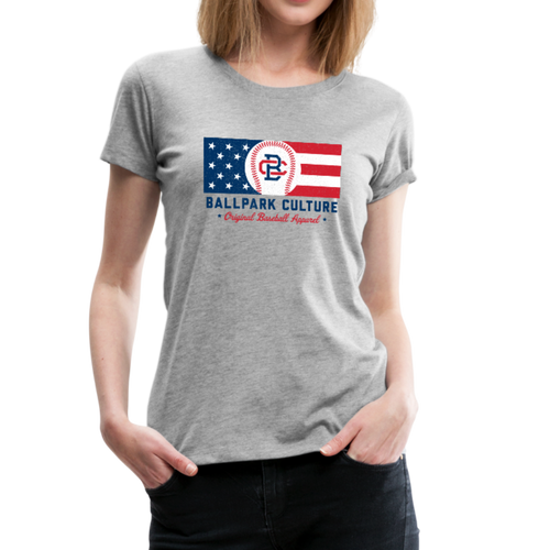 Ladies BC Flag - heather gray