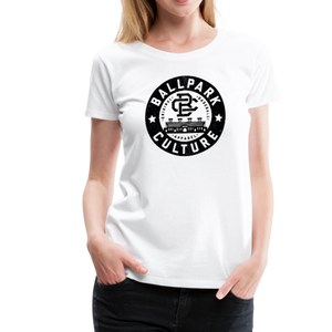 Ladies BC Circle Logo (Blk) - white