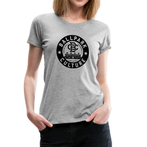 Ladies BC Circle Logo (Blk) - heather gray
