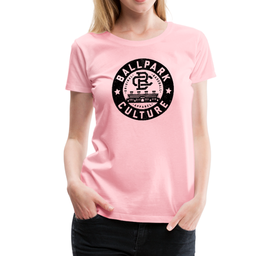 Ladies BC Circle Logo (Blk) - pink