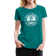 Load image into Gallery viewer, Ladies BC Circle Logo (Wht) - teal