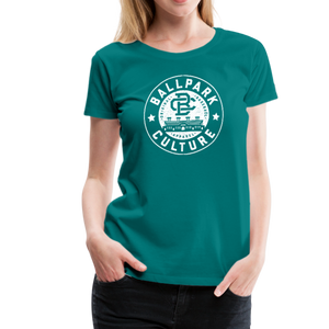 Ladies BC Circle Logo (Wht) - teal