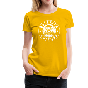 Ladies BC Circle Logo (Wht) - sun yellow