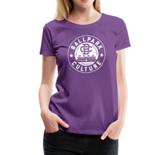 Load image into Gallery viewer, Ladies BC Circle Logo (Wht) - purple