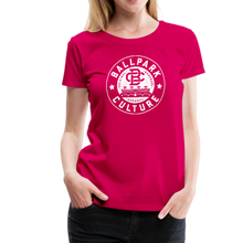Load image into Gallery viewer, Ladies BC Circle Logo (Wht) - dark pink