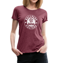 Load image into Gallery viewer, Ladies BC Circle Logo (Wht) - heather burgundy