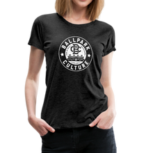 Load image into Gallery viewer, Ladies BC Circle Logo (Wht) - charcoal gray