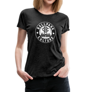 Ladies BC Circle Logo (Wht) - charcoal gray