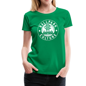Ladies BC Circle Logo (Wht) - kelly green