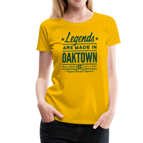 Ladies Oakland Legends - sun yellow