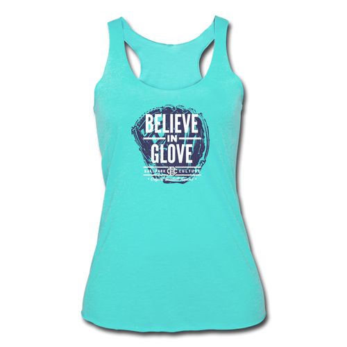Womens Believe In Glove Purple - turquoise