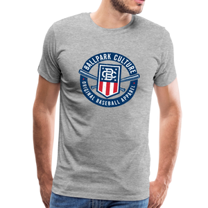 Mens Americana Crest - heather gray