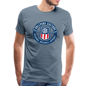 Mens Americana Crest - steel blue